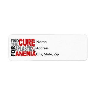 Encuentre la anemia aplástica de la curación etiqueta de remitente