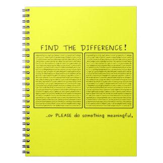 ¡Encuentre la diferencia! o haga algo Libreta