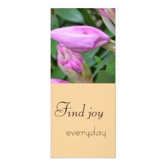 """Encuentre la señal diaria de la alegría invitación 4"""" x 9.25"""""""