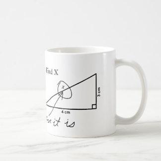 Encuentre la taza de café divertida de la prueba