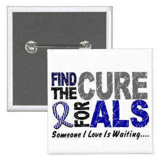 Encuentre las camisetas y los regalos del ALS de Pin Cuadrado
