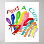 Encuentre las cintas coloridas de un cáncer de la  poster