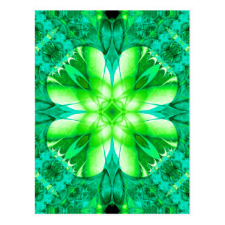 Encuentre las postales de un trébol del fractal