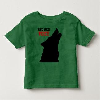 encuentre su camisa del niño de la voz