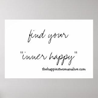 ¡Encuentre su feliz interno! Impresiones