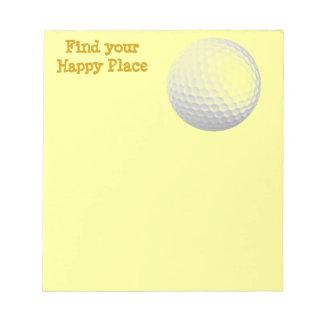 Encuentre su lugar feliz bloc