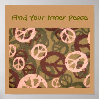 Encuentre su Paz-Poster-Verde crema internas