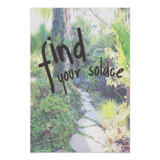 Encuentre su poster del jardín del consuelo
