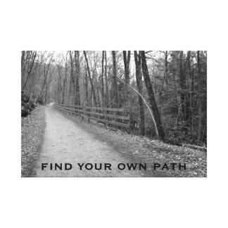 Encuentre su propia trayectoria impresion de lienzo