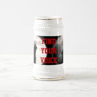 encuentre su stein de la voz taza de café
