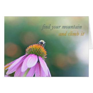 Encuentre su tarjeta de la montaña