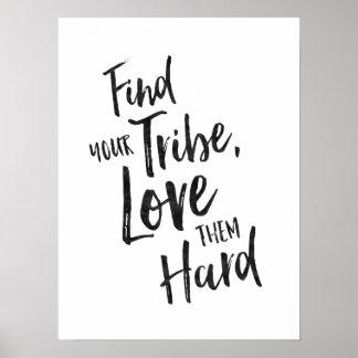 Encuentre su tribu - poster inspirado