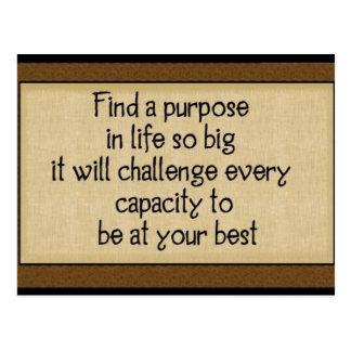 Encuentre un propósito Postales