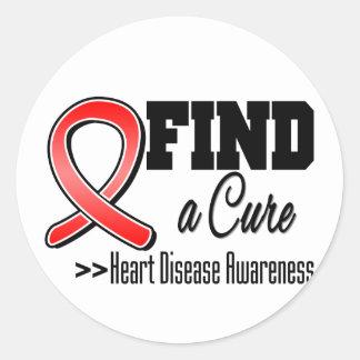 Encuentre una conciencia de la enfermedad cardíaca pegatinas redondas