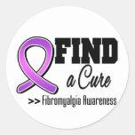 Encuentre una conciencia del Fibromyalgia de la Pegatinas Redondas