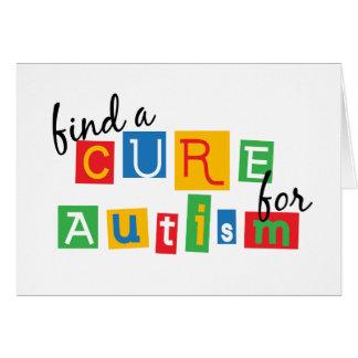 Encuentre una curación para el autismo tarjeta de felicitación