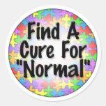 Encuentre una curación para normal pegatina redonda