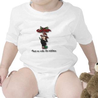Encuéntreme debajo del mistletoe2 trajes de bebé