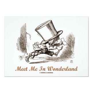 Encuéntreme en el país de las maravillas (el invitación 12,7 x 17,8 cm