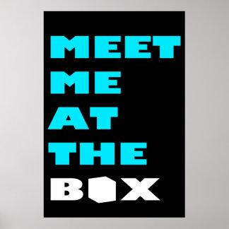 Encuéntreme en la caja - inspiración del póster