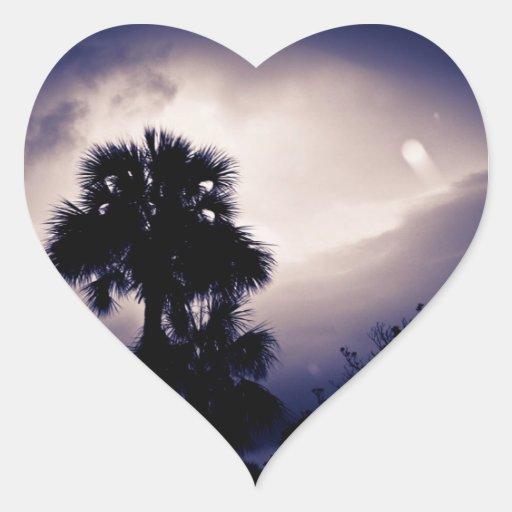 Encuéntreme en la colección del paraíso pegatina corazón