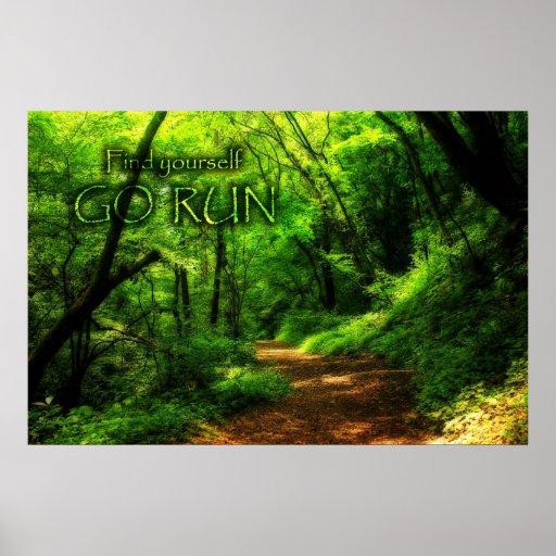 Encuéntrese para ir bosque mágico del funcionamien poster