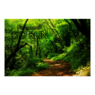 Encuéntrese para ir bosque mágico del funcionamien póster