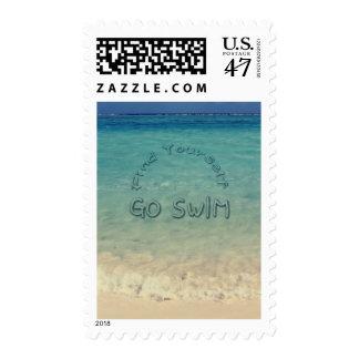 Encuéntrese para ir cita de motivación de la timbres postales