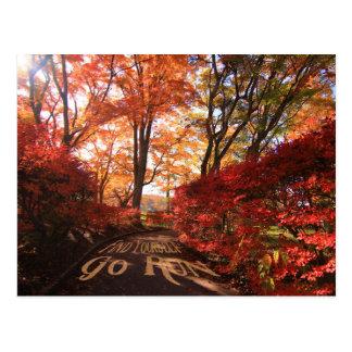 Encuéntrese para ir los corredores del otoño del postal