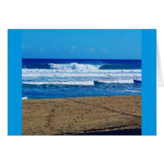 ENCUENTRO BEACH SURFING WAVES OCEAN PHOTOGRAPHY DO CARD