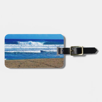 ENCUENTRO BEACH SURFING WAVES OCEAN PHOTOGRAPHY DO LUGGAGE TAG