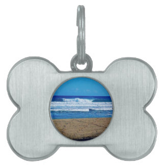 ENCUENTRO BEACH SURFING WAVES OCEAN PHOTOGRAPHY DO PET ID TAG