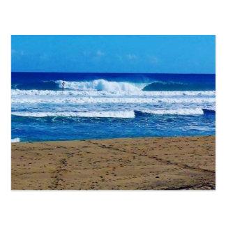 ENCUENTRO BEACH SURFING WAVES OCEAN PHOTOGRAPHY DO POSTCARD