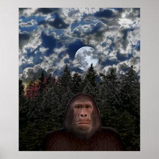 Encuentro de Bigfoot - poster dimensionable Póster