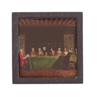 Encuentro de los diplomáticos (aceite en lona) caja de regalo de calidad