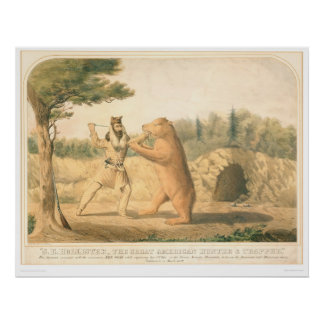 Encuentro del oso de Hollister (0547A) Póster