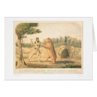 Encuentro del oso de Hollister (0547A) Tarjeta De Felicitación