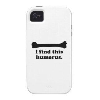 Encuentro este húmero vibe iPhone 4 fundas