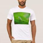 Encuentro verde del lagarto de Anole lindo Playera
