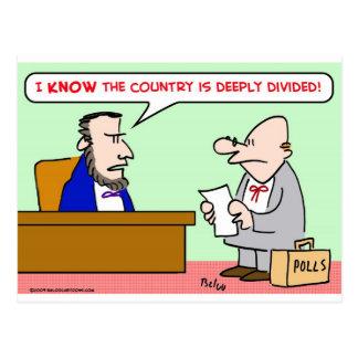 encuestas profundamente divididas del país de postales