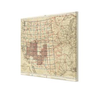 Encuestas sobre geográficas Estados Unidos Impresión En Lienzo Estirada