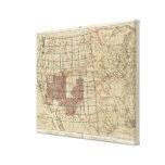 Encuestas sobre geográficas Estados Unidos Lona Estirada Galerias