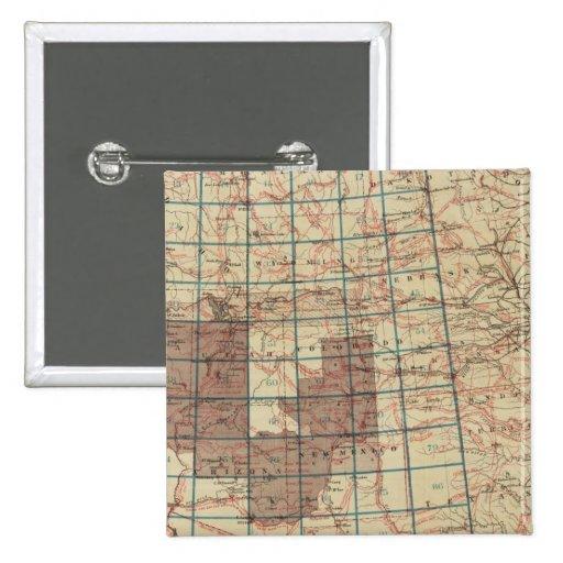 Encuestas sobre geográficas Estados Unidos Pin Cuadrado