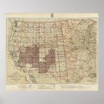 Encuestas sobre geográficas Estados Unidos Póster