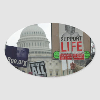 End Abortion Oval Sticker