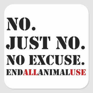 End All Animal Use Stickers