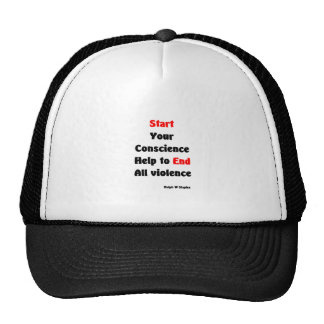 end all violence trucker hat