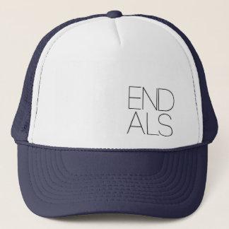 END ALS corner design Trucker Hat