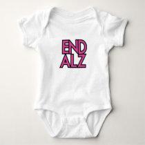 End Alz Alzheimer's Awareness Month Purple Gifts Baby Bodysuit