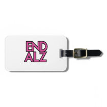 End Alz Alzheimer's Awareness Month Purple Gifts Bag Tag